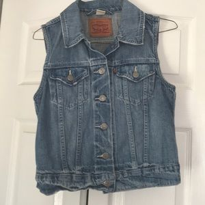 Vintage Levi Strauss & CO Womens Jean Vest Small